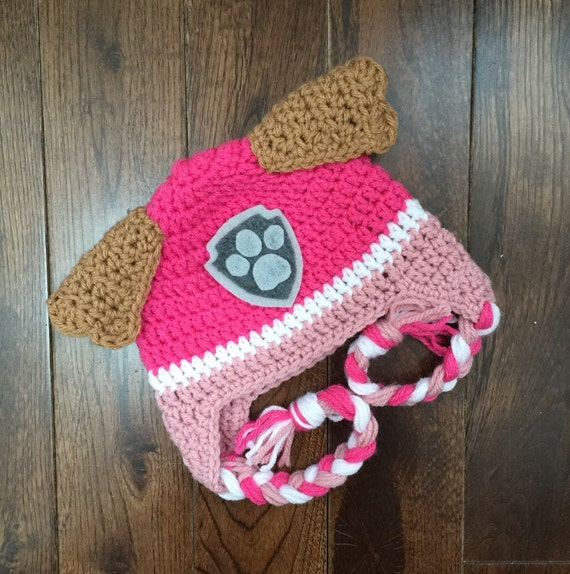 Skye Paw Patrol Crochet Character Hats Dog Hat Made to