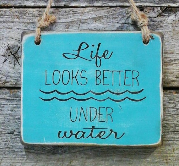 Swimming Pool Plaques Signs Wall Decor: Scuba Sign Diving Decor Pool Decor Pool Sign Lake By
