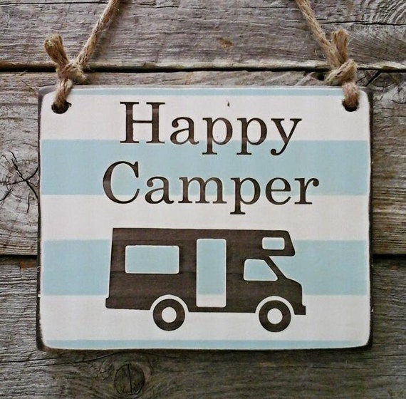 Camping camping sign camping decor happy camper sign rv for Airstream christmas decoration