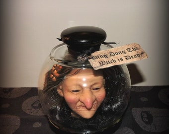 Prop Ding Dong The Witch is Dead FUN Halloween Decor Cloche