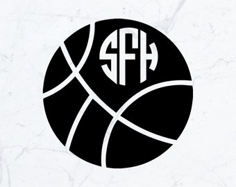 Monogrammed Basketball Decal