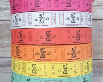 100 Circus Clown Carnival Tickets, Circus Theme Party Decorations, Carnival Birthday Party Tickets,