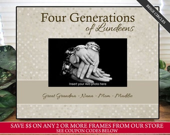 Four Generations Picture Frame | Three Generations Picture Frame | Personalized Picture Frame | Christmas Gift | Gift For Dad | Gift for Mom