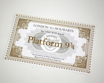 Hogwarts Inspired Express Ticket - One Way Ticket from London to Hogwarts | Customize with your own To and From locations