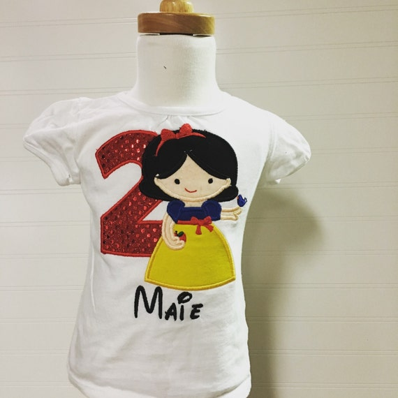 Snow white birthday shirt, girls birthday shirt, 1 snowwhite, birthday girl, 1 2 3 4 5, princess birthday