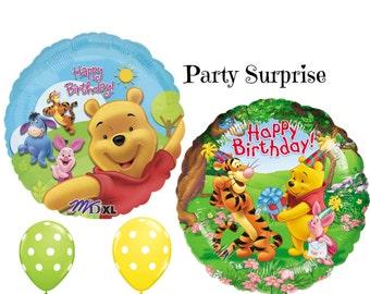 Winnie the Pooh Birthday Balloons Girl Birthday Boy Birthday 1st Birthday Pooh Party Balloons Number 1 Balloon