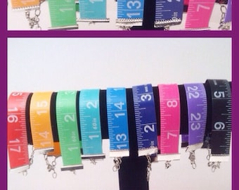 Free shipping US only | Tape measure bracelet - pick a color | bracelet | sewing jewelry