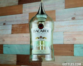 Upcycled Bacardi Rum Pendant Lamp CXL
