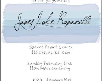 Square Watercolour Invitation