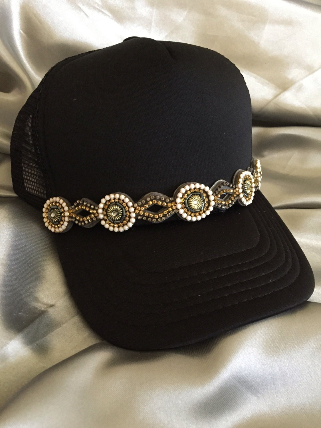 trucker hat cap bling hat cap womens hats trucker