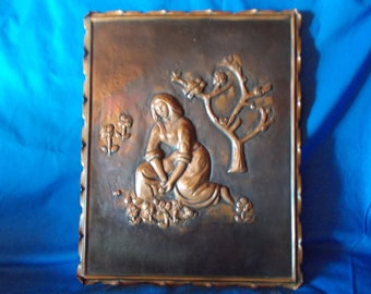 Rustic Copper Embossed Wall Plaque