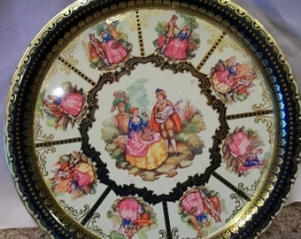 Elite Tin Colonial Tray Made in England
