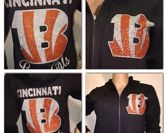 ON SALE Bengals Bling Zip up hoody