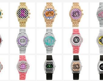 SALE Design Your Own Personalized Watch*Monogram Watches*Personal Images*Moms*Logos*Personalized Gifts*Bridesmaid Gifts*Teachers*Graduation