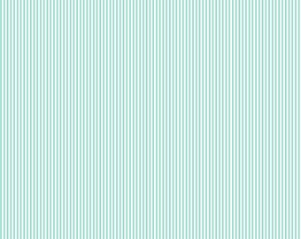 Mint Mini Stripe Fabric - By The Yard - Mint / Boy / Girl / Gender Neutral