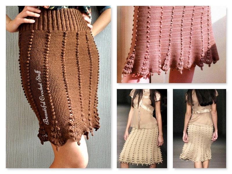 Free Download Crochet Skirt Pattern : Crochet Midi Skirt Pattern Crochet Bobble Skirt Pattern