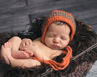 Newborn Roving Bonnet Thick Stripe