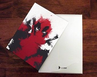 Deadpool Card Deadpool Invitation Thank You Card Birthday Card Anniversary Card Deadpool Birthday Card Superhero Card Stationery Card