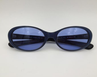 Laura Biagiotti Vintage Blue Sunglasses Lenses Eyewear Frames Style Visibilia LB 85131 405 Size 54-17-135