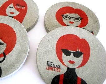 Set of 6 coasters tribute to Motown.