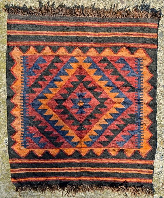 Items Similar To SALE Small Vintage Wool Turkish Kilim Rug