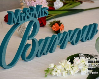 Mr and Mrs Last Name, Mr & Mrs Family Name, Mr and Mrs Sign