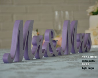 Mr & Mrs sign And Wedding Table Decor