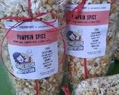 Pumpkin Spice Gourmet Popcorn - Fall and Halloween treat -VT made
