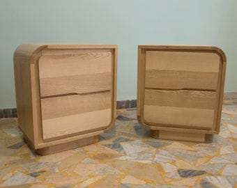 Bedside table in ash wood