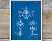 Patent Poster, Ship Steering Wheel, Nautical Decor, Ship Wheel, Nautical Wall Art, Boat Decor, P354