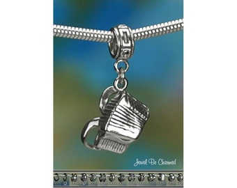 Sterling Silver Accordion Charm or European Style Charm Bracelet .925