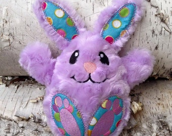 Embroidered Stuffed Easter Bunny Plush Toy / Doll / Ornament