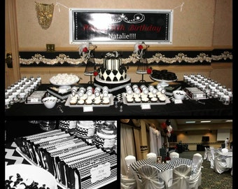 Chevron Black & White Party Pack(READ DESCRIPTION before ordering)