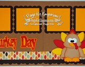 Scrapbook Page Kit Fall Thanksgiving Turkey Day Boy Girl 2 page Scrapbook Layout 67