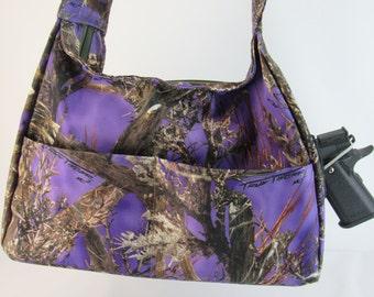 MC Purple CAMO Concealed Carry Purse Small