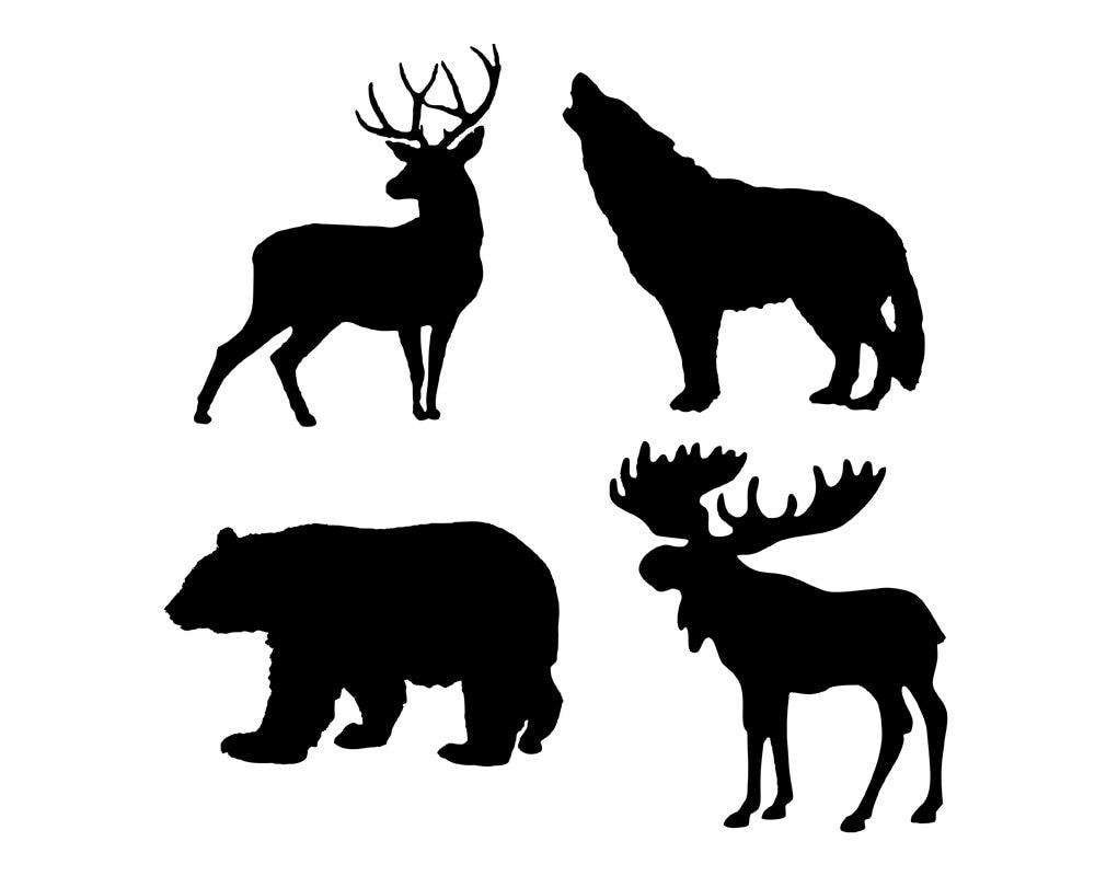Wildlife Stencil Set of 4   Wooden Pallet Wildlife Signs ...