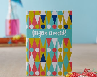 Fingers Crossed! Greetings Card