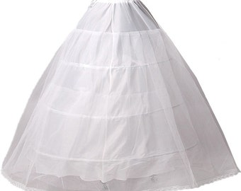 3 Hoops White Black Petticoat under skirt slips hoop skirt crinoline