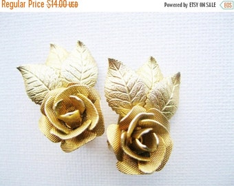 Summer Sale Judy Lee Mesh Flower Clip Earrings Designer Signed Jewelry Vintage Costume Jewelry