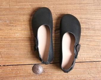 Handmade Soft Shoes for Women,Oxford Black Shoes, Flat Shoes, Retro Leather Shoes, Slip Ons