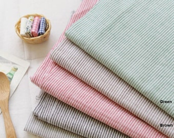 Gauze Fabric 1mm Stripe in 5 Colors By The Yard