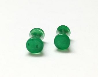 4mm (6g) Green Double Flare Plugs - Gauges - Ear Plugs