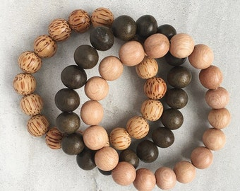 Woodland Collection / Natural Wood Aromatherapy Bracelet