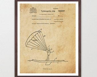 Kite Surfing - Kite Surfing Patent - Kite Surfing Art - Kite Surfing Poster - Surfing Art - Surf Poster - Surf Patent - Kite Surf - k