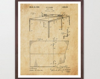 Table Tennis Patent Poster - Ping Pong - Table Tennis Art - Ping Pong Art - Ping Pong Table - Table Tennis Wall Art - Ping Pong Table - Art