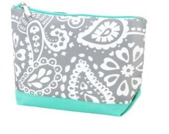 Monogrammed Parker Paisley Wholesale Boutique Cosmetic Bag