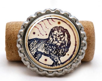 Gifts For Astrology Lovers, Leo Jewelry, Zodiac Leo Keychain, Lion Bottlecap Keyring, Horoscope Presents, Birth Month Gifts
