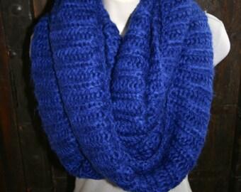 Scarf Super Soft Warm Blue Chunky Infinity Knit Sweater Neck Warmer Wrap