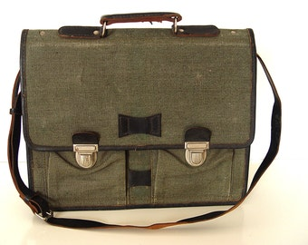 Military Green Canvas Bag.