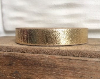 Hand-Stamped Leather Cuff